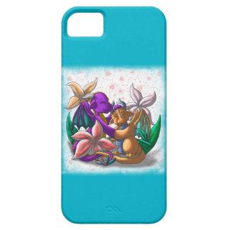 [Pares del lirio de los dragones de la taza de té] iPhone 5 Protectores
