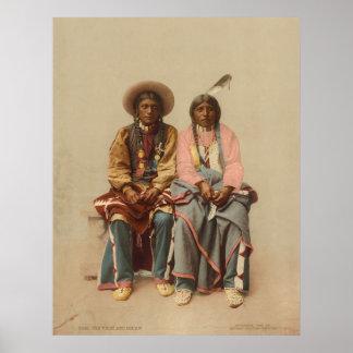 Pares del nativo americano, 1899 póster