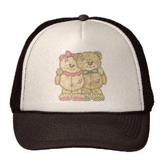 Pares del oso de peluche - colores originales gorra