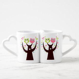 Pares del sistema de la taza de café de la rama de