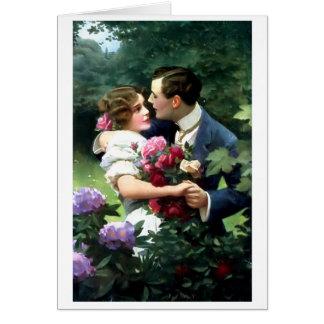 Pares del Victorian en la postal del jardín
