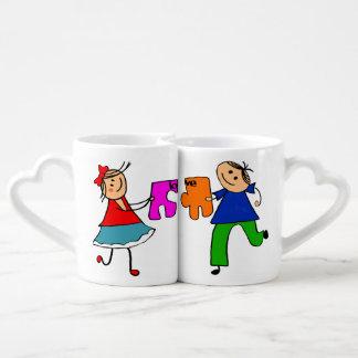 pares divertidos, boda divertida, amor, par, boda set de tazas de café