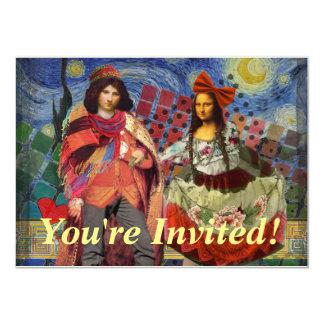 Pares divertidos caprichosos del boda del vintage invitación 11,4 x 15,8 cm