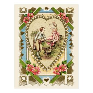 Pares dulces en la reproducción del vintage del postal