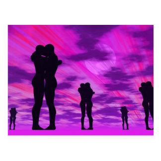 Pares en amor - 3D rinden Postal