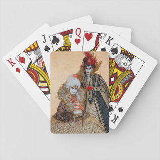Pares en el traje del carnaval, Venecia Baraja De Cartas
