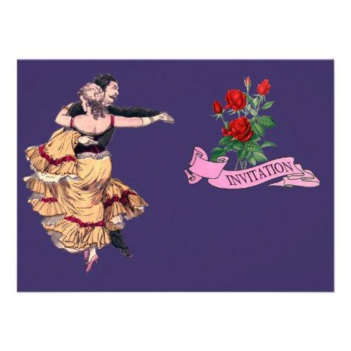 Pares españoles del baile - el vintage invita invitacion personal