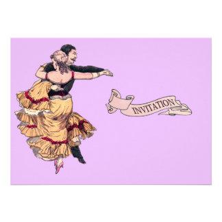 Pares españoles del baile - el vintage invita anuncio