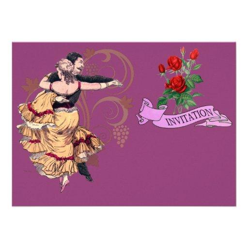 Pares españoles del baile - el vintage invita invitaciones personalizada