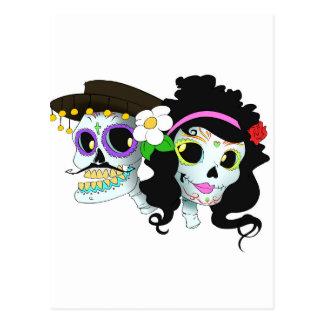 Pares festivos mexicanos del cráneo postal