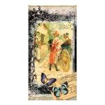 Pares franceses en tarjeta del siglo XVIII de la f Tarjeta Con Foto Personalizada
