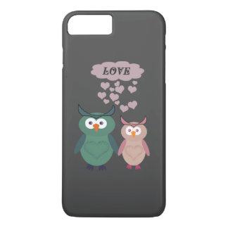 Pares lindos de moda del amor del búho funda para iPhone 8 plus/7 plus