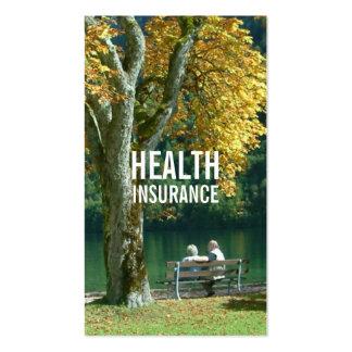 Pares y árbol mayores del seguro médico tarjetas de visita