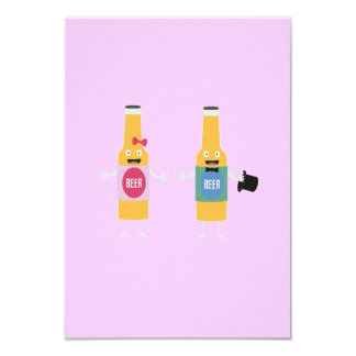 Pares Zn4bx de Beerbottle del boda Invitación 8,9 X 12,7 Cm