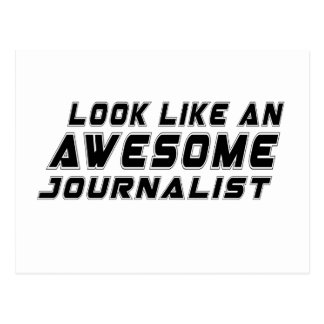 Parezca un periodista impresionante postal