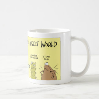 Parias en el mundo de insecto taza de café
