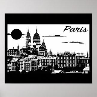 """París 20"""" x 16"""", papel de poster del valor (mate)"""