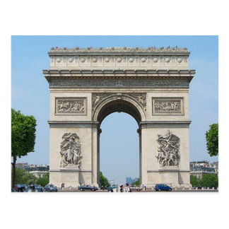 París - Arco de Triunfo - Postal