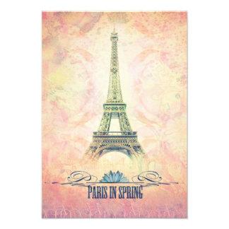 París en primavera invitacion personalizada