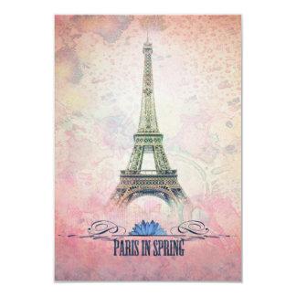 París en primavera invitación 8,9 x 12,7 cm