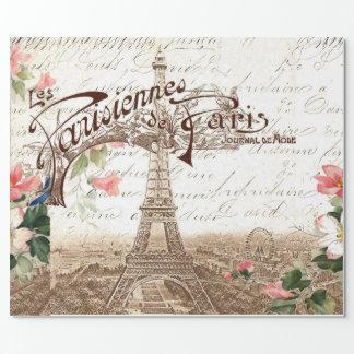 París en primavera papel de regalo