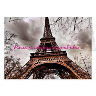 """""""París es siempre tarjeta de nota de una buena"""