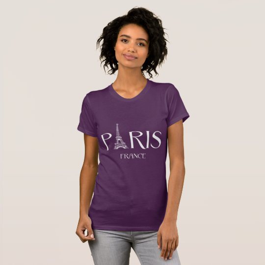 """""""París - Francia - camiseta de la tipografía de"""