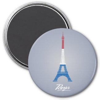 París grande, imán redondo de 3 pulgadas