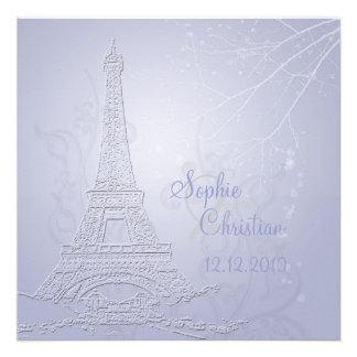 París, invitaciones del boda de la torre Eiffel
