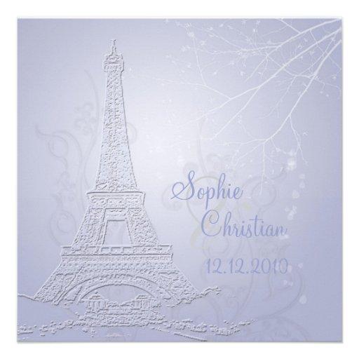 París, invitaciones del boda de la torre Eiffel Invitaciones Personalizada