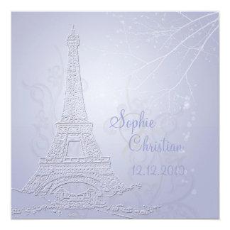 París, invitaciones del boda de la torre Eiffel Invitación 13,3 Cm X 13,3cm