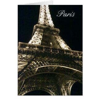 París le agradece Notelet Tarjeta Pequeña