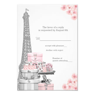 París RSVP Invitación 8,9 X 12,7 Cm