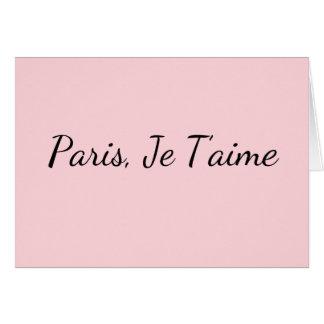 París, tarjeta de felicitación en blanco de Je