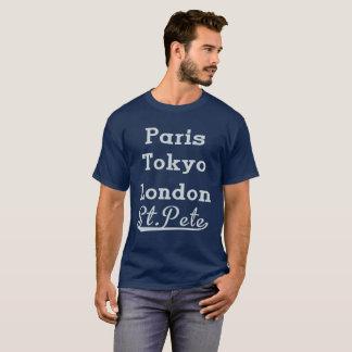 París Tokio Londres St.Pete Camiseta