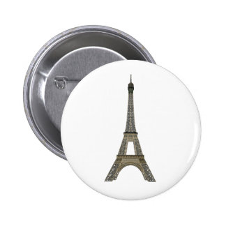 París: Torre Eiffel: Dibujo del vector: Chapa Redonda De 5 Cm