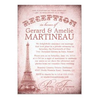 Paris Wedding Reception Only Invitation