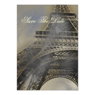 Parisian french wedding save the date custom invites