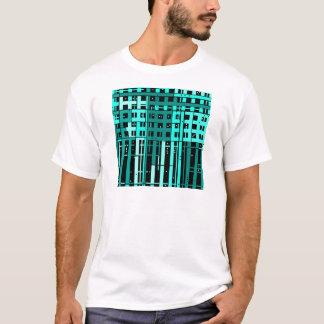 Parking verde de la aguamarina abstracta camiseta