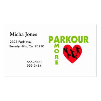 Parkour Amore con el corazón Tarjetas De Visita