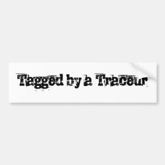 Parkour - marcado con etiqueta etiqueta de parachoque