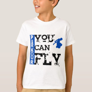 Parkour - usted puede volar camiseta