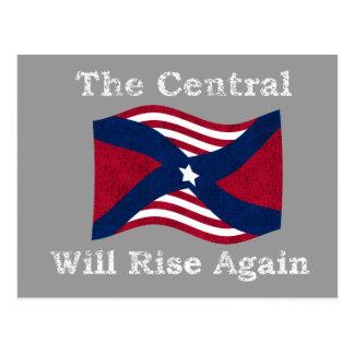 Parodia de la guerra civil tarjeta postal