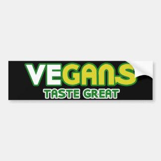 Parodia del gusto de los veganos gran pegatina para coche