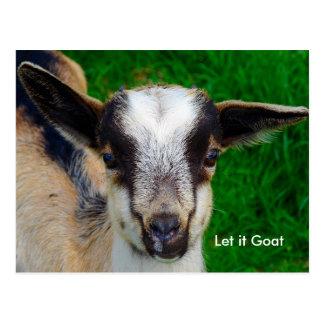 Parodia divertida de la cabra postal