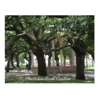 Parque, Charleston Carolina del Sur, Gazebo, Postal