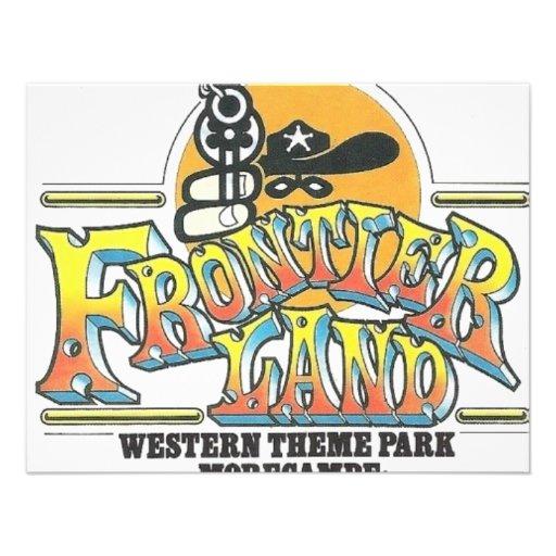 Parque de atracciones de Frontierland Morecambe In Invitaciones Personales