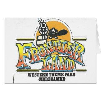Parque de atracciones de Frontierland Morecambe In Tarjeta De Felicitación