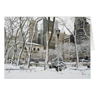 Parque de Bryant del invierno Felicitacion