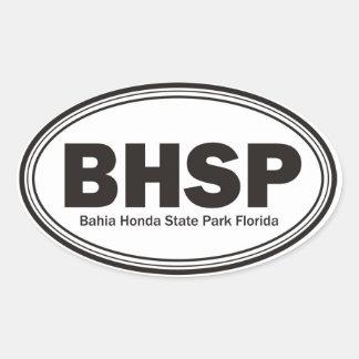 Parque de estado de Bahía Honda Colcomanias De Óval Personalizadas